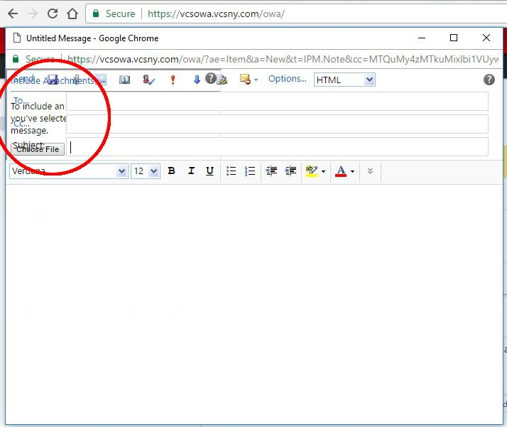 Unable to attach files in Webmail (the attach window displays