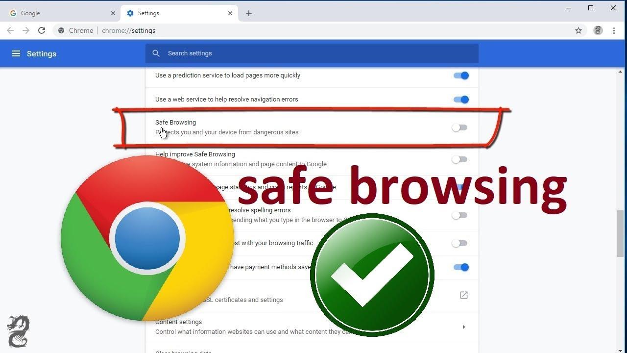 turn off google chrome safe browsing